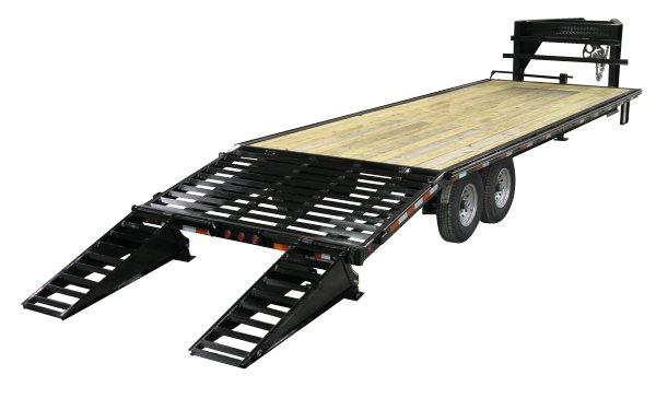 Equipment trailers from Delta — Single Wheel Flatbeds